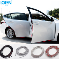 1pcs 5M Soft Invisible Protect Car Door Decorative Strips Stickers Anti Collision Rubbing Car Styling Black