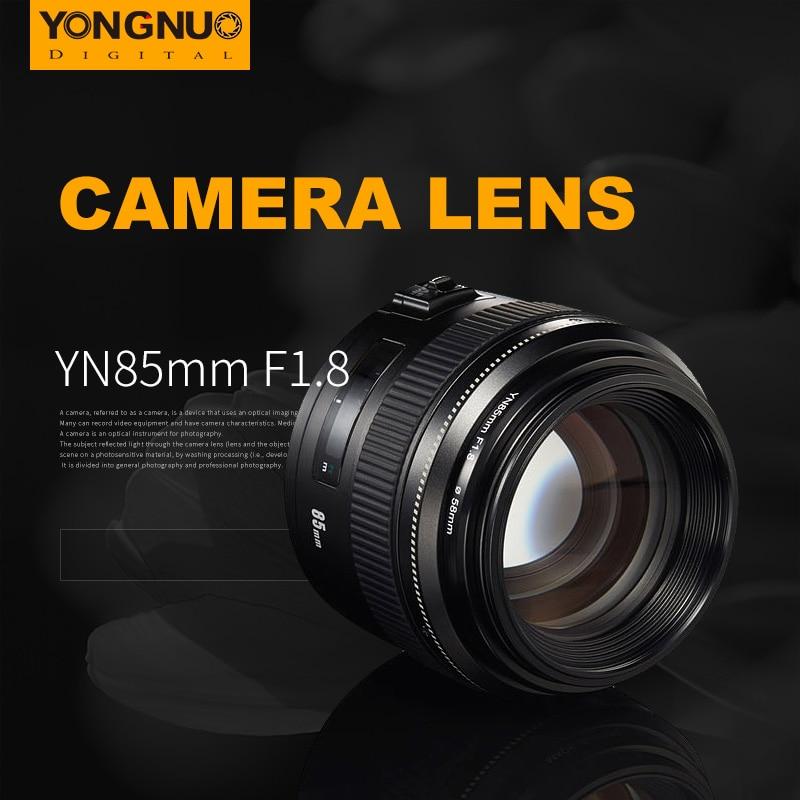 Yongnuo YN85mm Camera Lens f1.8 AF/MF Standard Medium Telephoto Prime Lens Fixed Focal Lens for Canon EF Mount EOS Cameras yongnuo yn100mm f2 af mf medium telephoto prime lens fixed focal for canon eos rebel camera ef mounting port 600d 60d 80d 6d5d3
