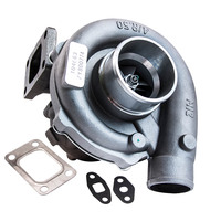 T3/T4 T3T4 0.57A/R Turbine for Nissan Patrol Safari Y60 Y61 Turbocharger Turbo for 1.6L 1.8L 2.0L T3 5 BOLTS EXHAUST FLANGE