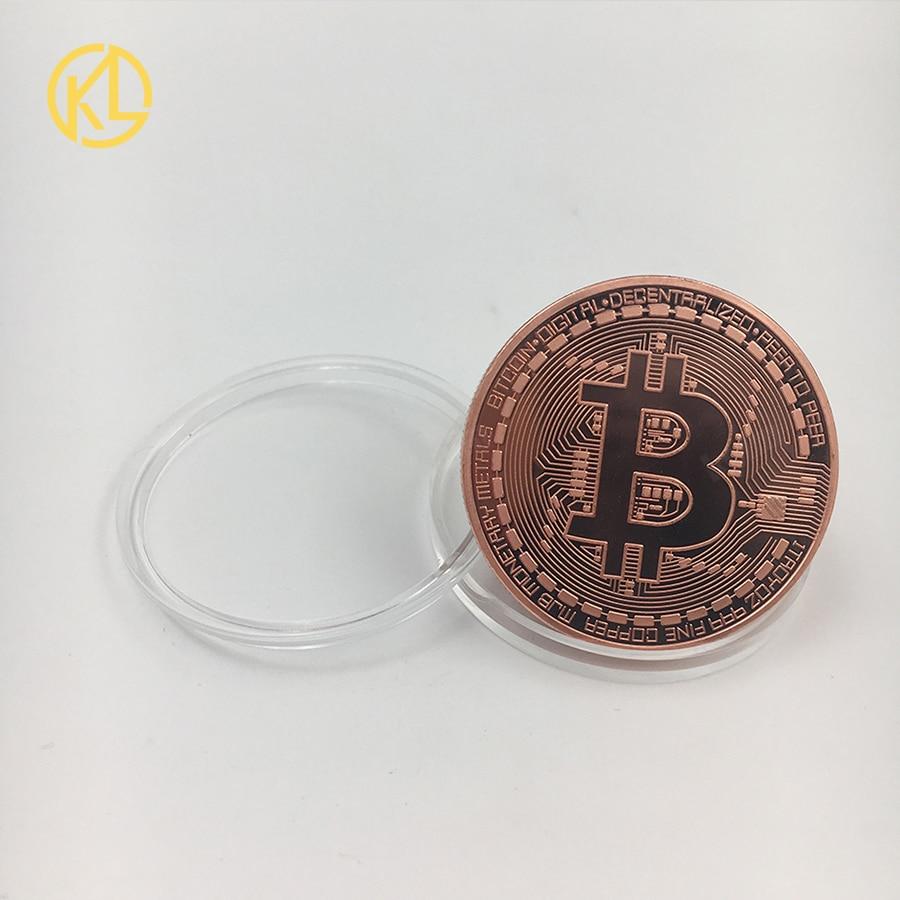 Bitcoin/Ethereum/Litecoin/Dash/Ripple/Monero/EOS coin 18 kind of Metal Physical silver/gold Plated Commemorative BTC Coin-3