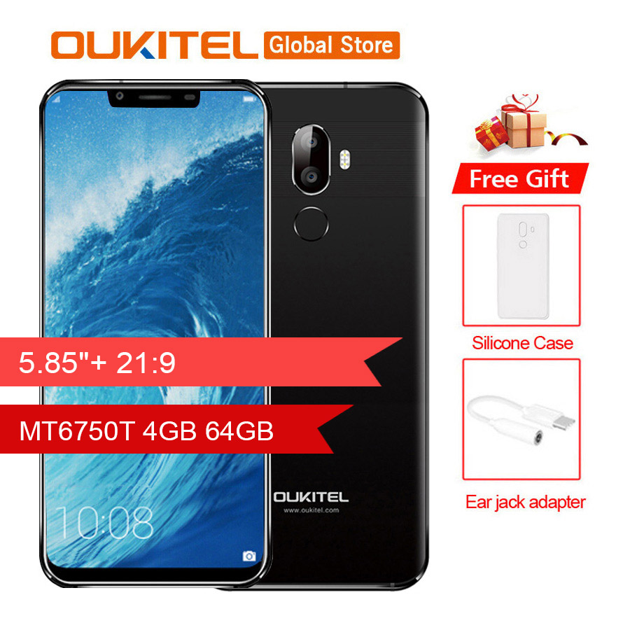 Original Oukitel U18 5 85 21 9 Full Display Face ID MT6750T Octa Core Android 7