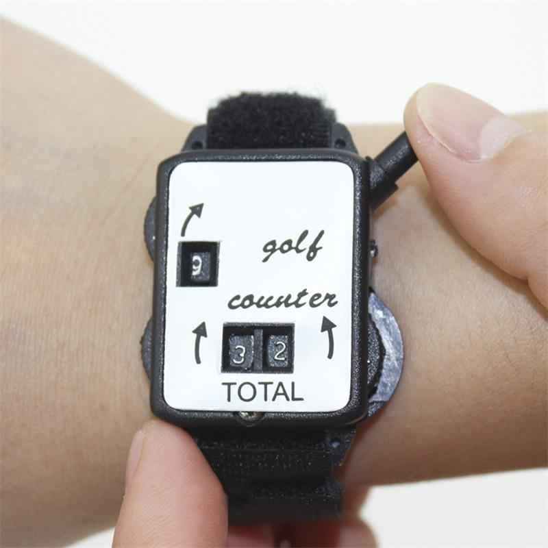 Golf Counter Score Indicator Scoring Device Watch Shape Manual Type Portable Tool New Plastic Pocket Black Training Tool