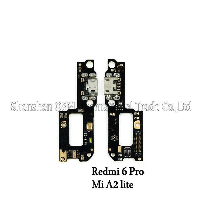 For Xiaomi Mi A2 Lite/ Redmi 6 Pro / Redmi Note 6Pro USB Charger Port Charging Dock Connector PCB Board Ribbon Flex Cable Parts
