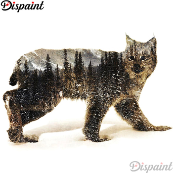 Dispaint Full Square/Round Drill 5D DIY Diamond Painting Wolf scenery Embroidery Cross Stitch 3D Home Decor A12592