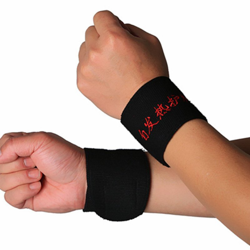 2 Pcs Magnetic Therapy Wrist Brace Protection Belt Spontaneous Heating Wrist ...