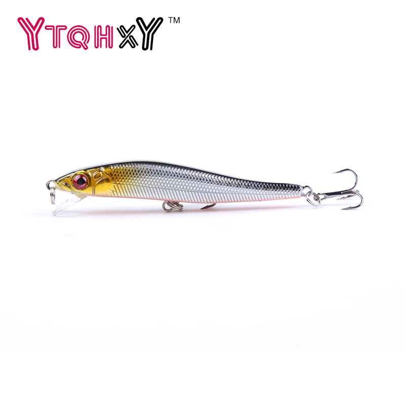 New Minnow Fishing Lures 8cm 5.5g 8# Hooks Fish Minnow Lure Tackle Hard Bait Pesca Wobbler Artificial Swim bait YE-26 10pcs 7 5cm soft lure silicone tiddler bait fluke fish fishing saltwater minnow spoon jigs fishing hooks