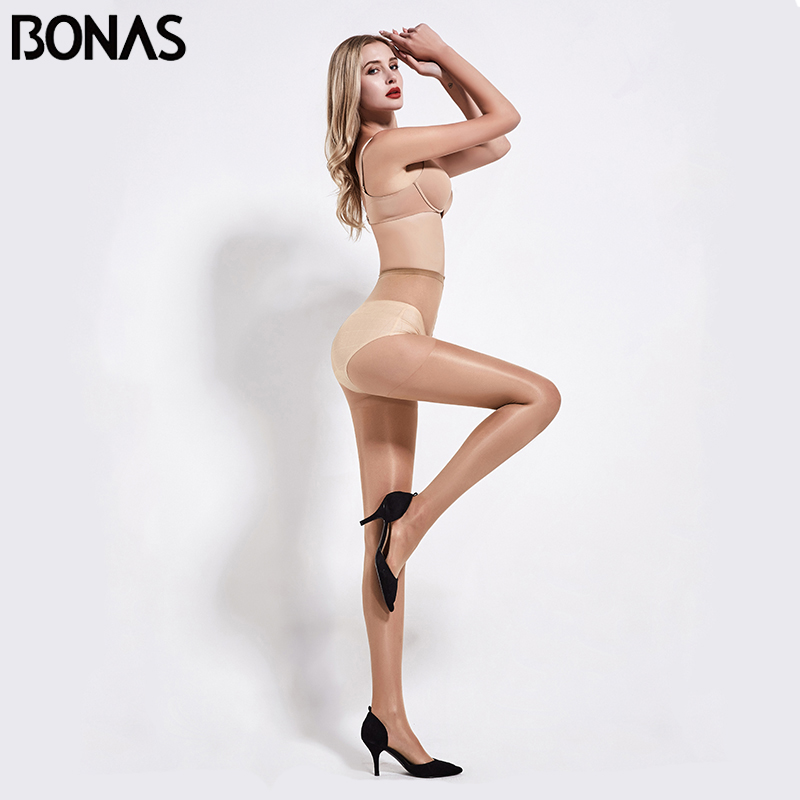 BONAS 20D 6pcs/lot Womens Stockings Ultra-thin Sexy Tights Spandex Pantyhose Women Stretchy Slim Solid Nylon Summer