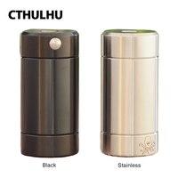 100% оригинал Cthulhu трубка мод с двойной MOSFET чип и два вентиляционных отверстия без батареи полу-механический мод для вейпа e-сигареты vs Mjolnir RDA