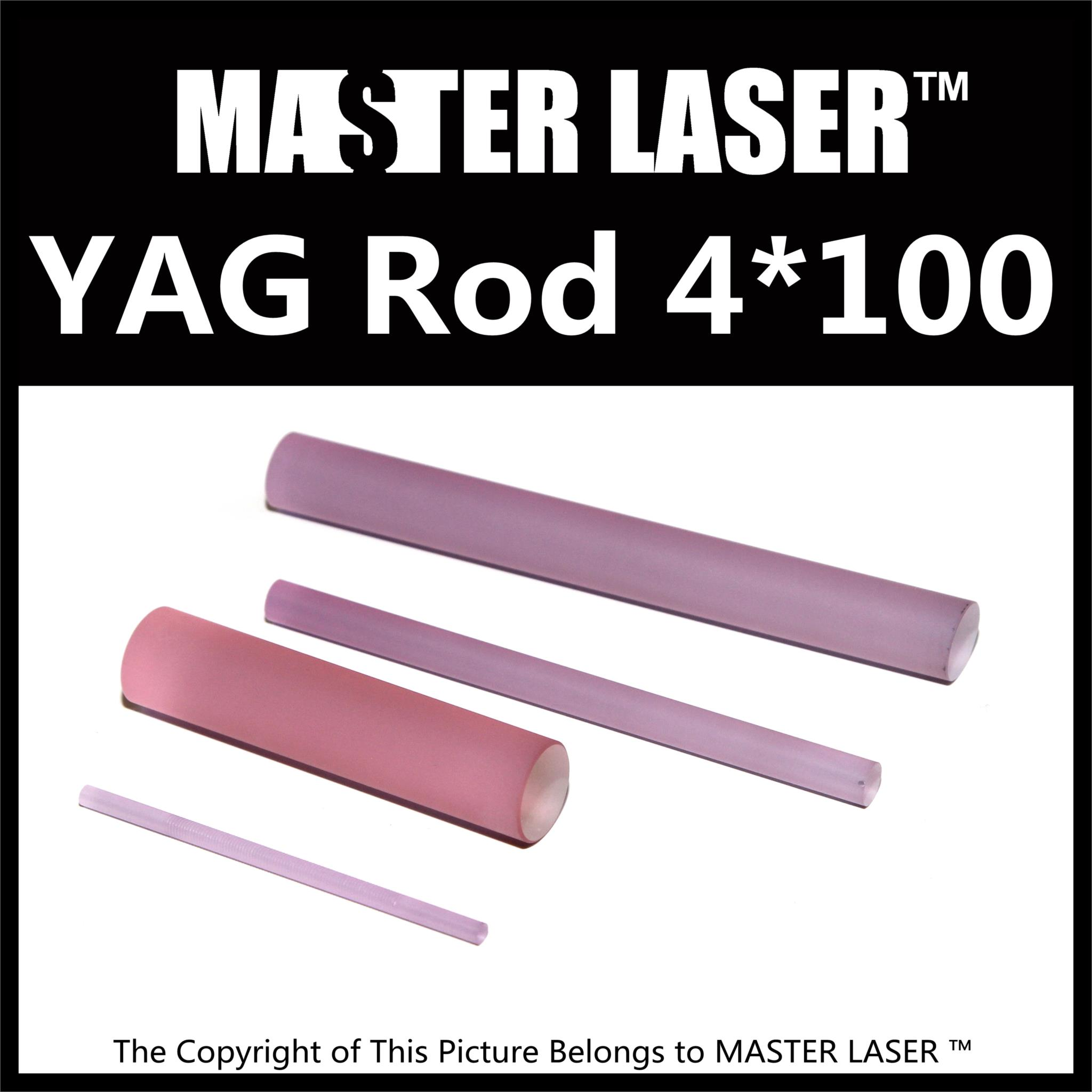 Good Quality Laser Welding Machine 1064nm nd: Yag Rod 4mm Dia 100mm Length nd: Yag Laser Rod 532nm nd yag laser head probe tip for sale