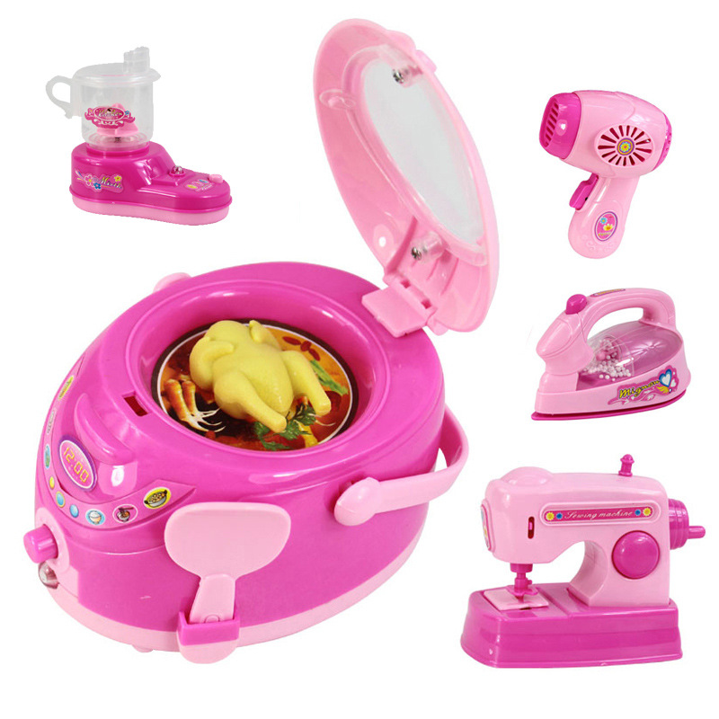24styles Classic Cooking Toys Pink Household Simulation Home Appliances  Kitchen Toys Light Up U0026 Sound