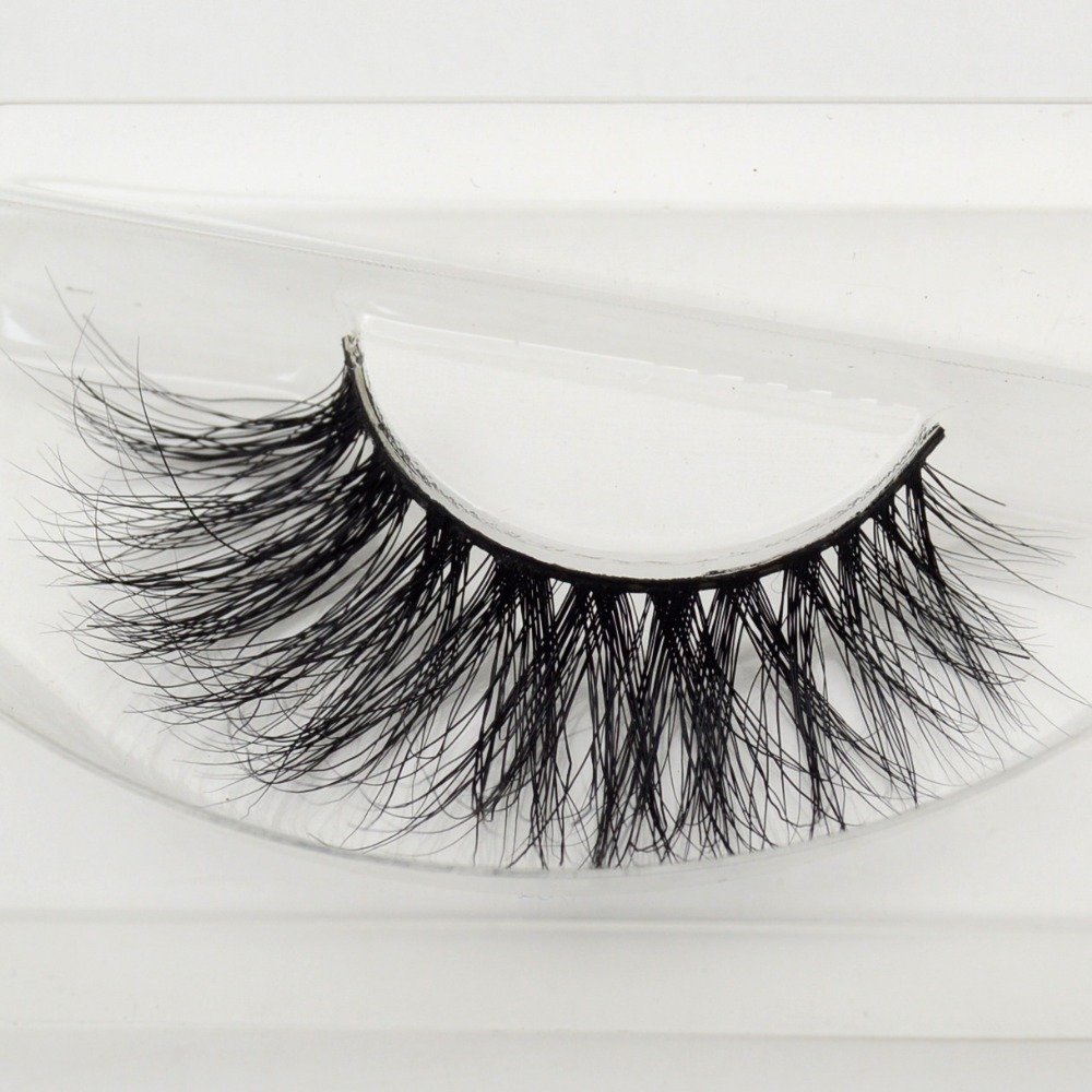 visofree 1 pair 3d mink lashes wholesale 100% real mink fur Handmade crossing lashes individual strip thick lash A21 image