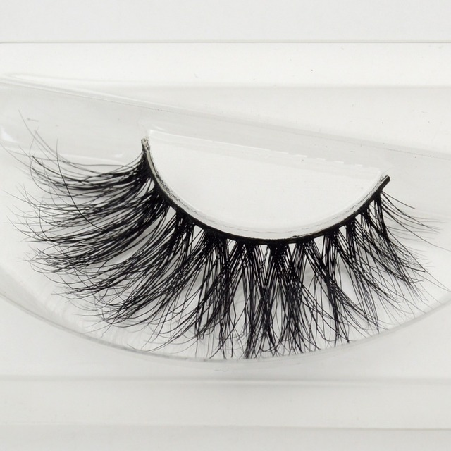 688219cb9af visofree 1 pair 3d mink lashes wholesale 100% real mink fur Handmade  crossing lashes individual strip thick lash A21