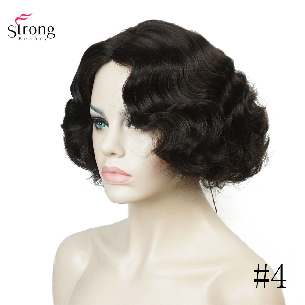 Black Hair Wig Curly Synthetic