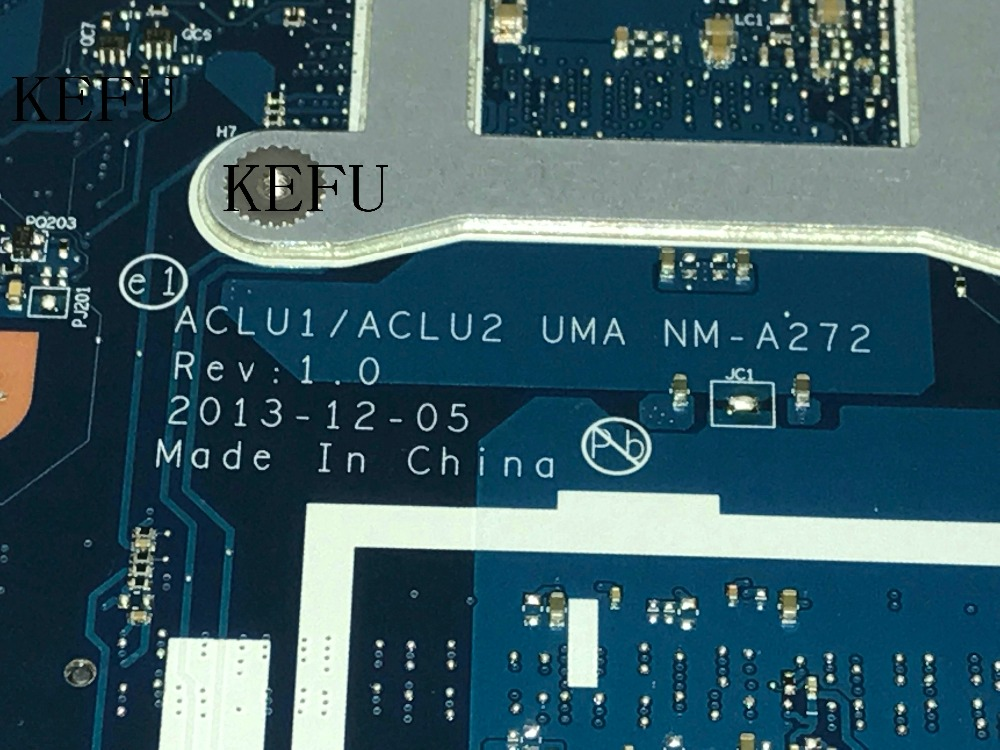 KEFU 100% NEW FREE SHIPPING ACLU1 / ACLU2 NM-A272 laptop Motherboard For LENOVO G50-70 NOTEBOOK PC I3 CPU COMPARE BEFORE ORDER laptop motherboard compatible for lenovo g50 70 aclu1 aclu2 nm a271 sr170 i5 4200u ddr3