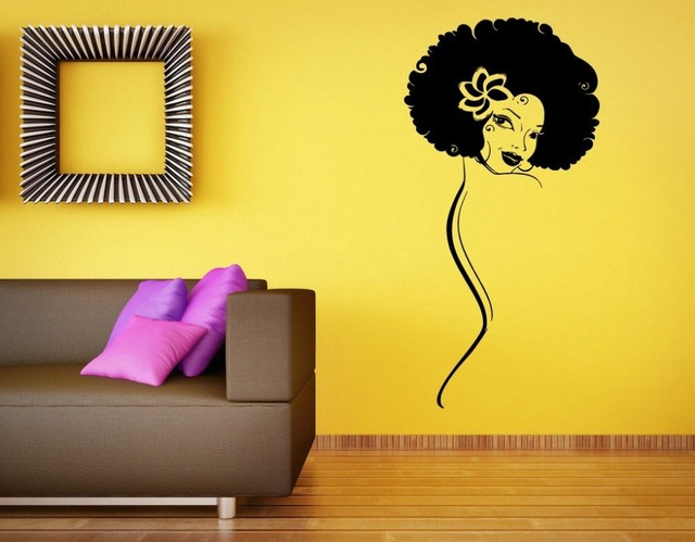Black Naked Girl Wall Sticker Black Beautiful African Girl Sexty ...
