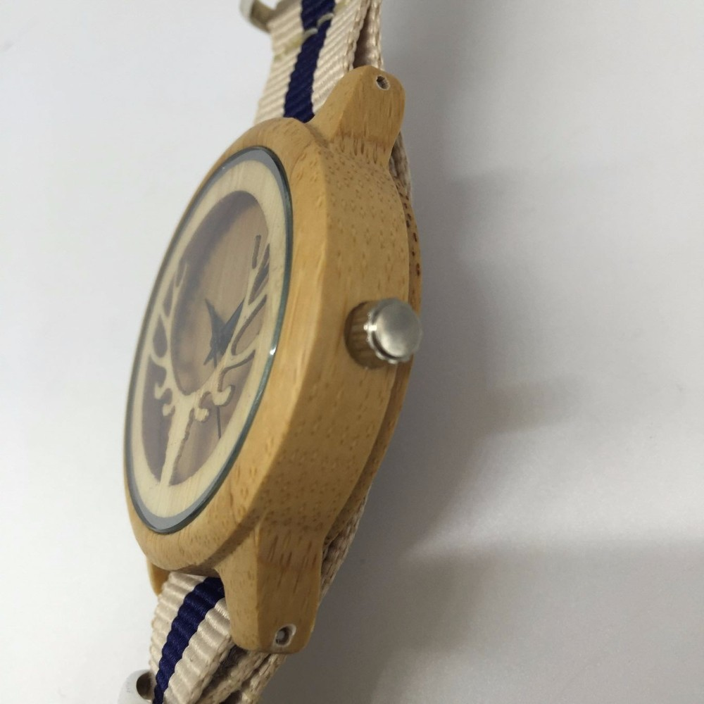 wood nylon watch 06
