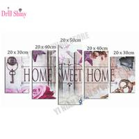 5ps 5D DIY Full Square Diamond Painting Home Sweet Home Multi Picture Combination Embroidery Mosaic