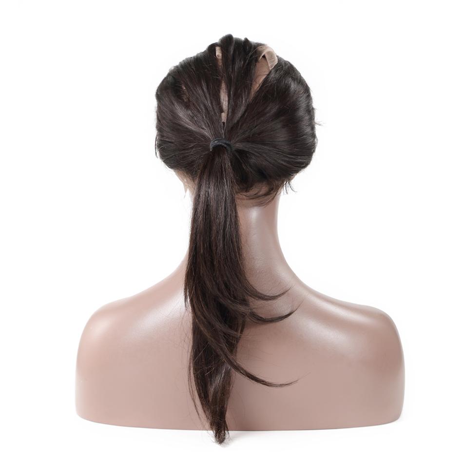 роза красота прямо предварительно сорвал 360 кружева фронтальная с ребенком волос естественной цвет человеческих застежка бесплатная доставка