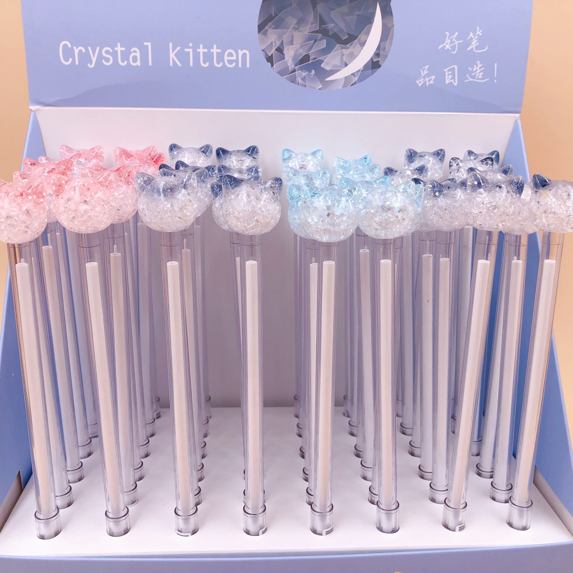 48pcs lot cute cartoon Crystal cat candy color animal gel pen Korea creative water ink pen
