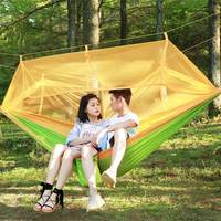 Hot Selling 260 Cm Double Hammock Portable Outdoor Garden Mosquito Net Hang BED Travel Camping Swing