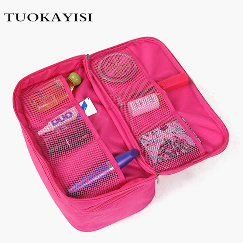 Travel Cosmetic Bags Fashion Waterproof Polyester Multifunction Makeup Storage Bag High Quality Toiletry Bag For Men Women