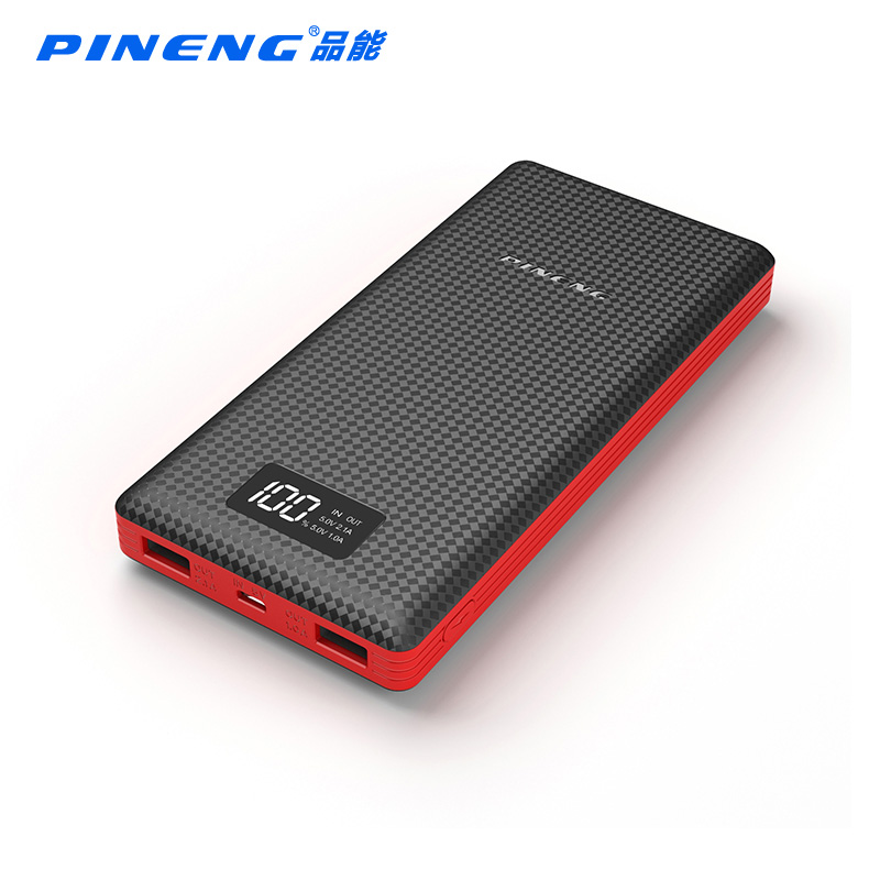 imágenes para PINENG Banco de la Energía 20000 mAh Paquete Externo de La Batería Portátil Cargador de Copia de seguridad de LCD Dual USB Xiaomi Powerbank para el iphone iPad Samsung