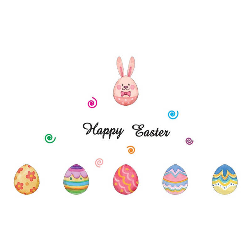 Image 5 - Removable Easter Eggs Wall Stickers  Children House Decoration Lovely kids room decoration Creative sticker mural-in Wall Stickers from Home & Garden