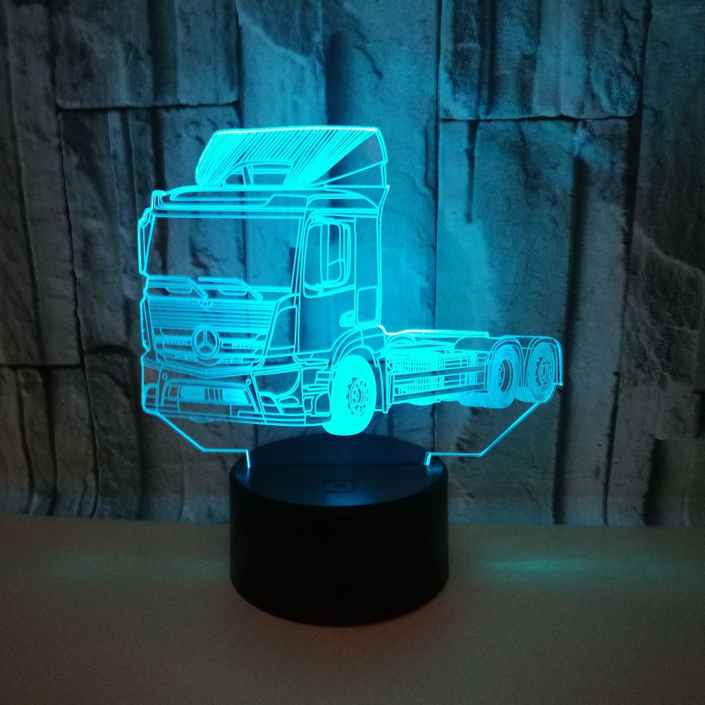 Truck 3d Table Lamps For Living Room Stereo Vision Touch Remote Control Nightlight Acrylic Usb 3d Small Table LampTruck 3d Table Lamps For Living Room Stereo Vision Touch Remote Control Nightlight Acrylic Usb 3d Small Table Lamp