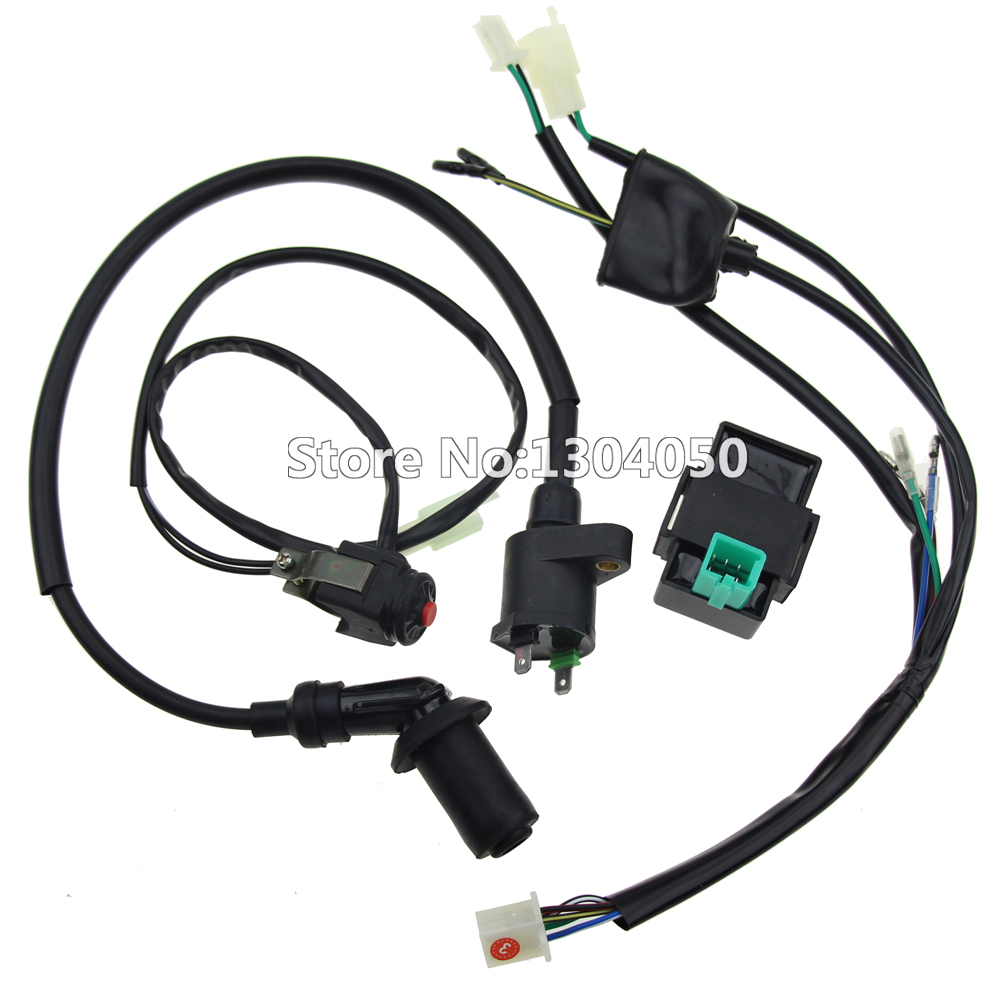 hight resolution of wiring loom ignition coil cdi 5 pin cdi box kill switch 50cc 70cc 90cc 110cc 125cc pit dirt bike atv new in motorbike ingition from automobiles