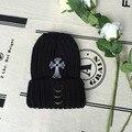 Complementar la decoración anillo de metal sombrero de punto sombreros para hombres y mujeres