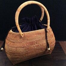 classic designer handbags Rattan knitting totes bags fashion woven shopping hand basket large casual bag Exotic amorous feelings