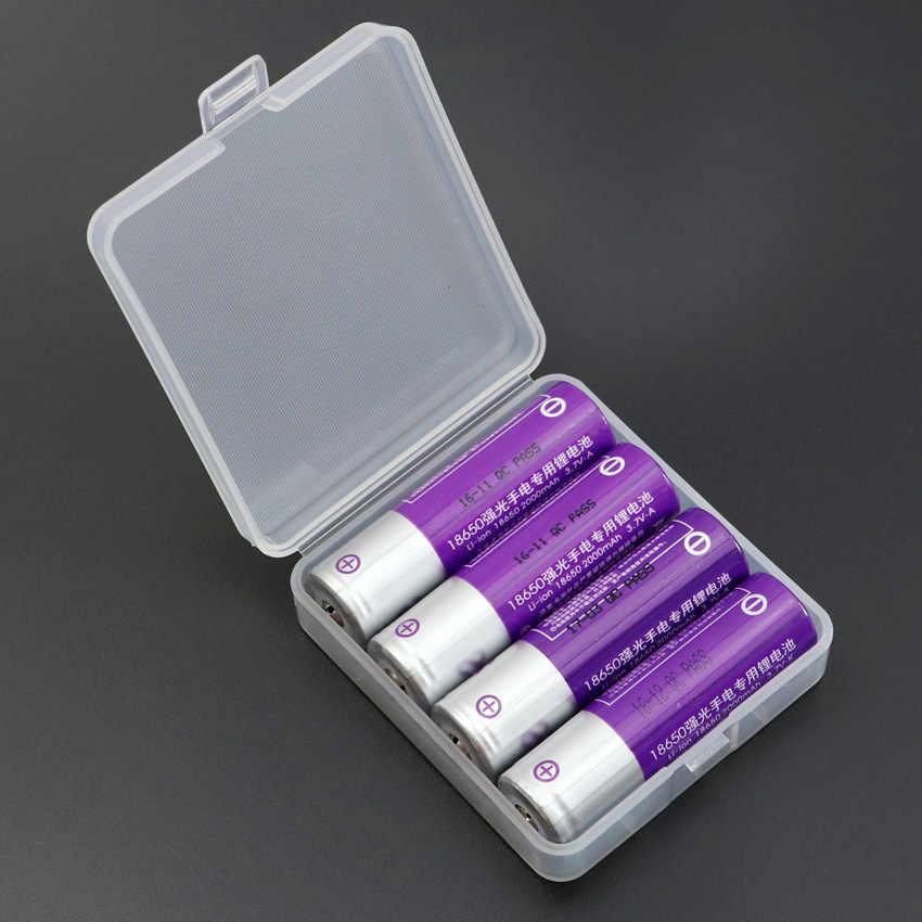 18650 batterie box Schutzhülle Kunststoff Fall batterie Lagerung boxen Halter Fall für 4 stücke 18650 Batterie zu schützen batterie