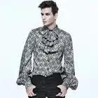 Devil модная благородная нарядная Мужская рубашка с галстуком воротником плюс размер 4XL весна осень в стиле панк готик красивые облегающие му...