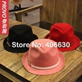 Winter Novelty Wool Felt Fedora Hats For Women Chapeau Feminino Panama Trilby Free Shipping PWFR-100