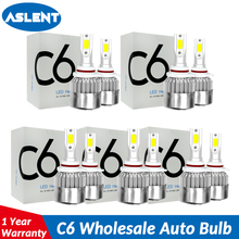 ASLENT C6 Wholesale Car Lights Bulbs H7 LED H4 9003 HB2 H11 H1 H3 H8 H9 880 9005 9006 H13 9004 9007 Auto Headlight 12V Fog Light