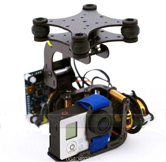 Assemblage de cardan sans balais de haute qualité spécial pour Gopro 3 W/contrôleur et moteurs livraison gratuite