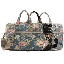 9b07afcdd49b1 Women Girl Laptop Messenger Bag Flower Canvas 13 14 15 inch Notebook  Shoulder Bags Carrying Case Handbag for Macbook Dell HP