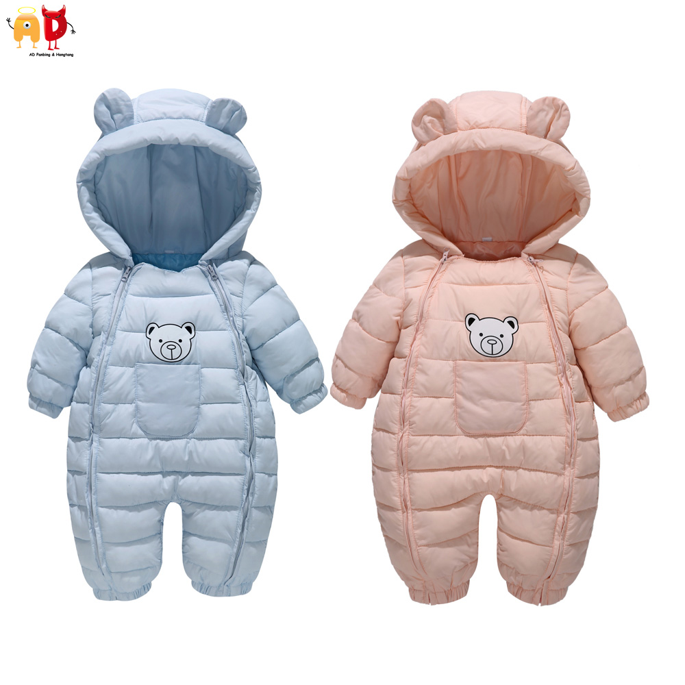 AD Warm Down Cotton Baby's Rompers for Winter Toddler's Bodysuit Baby Boys Girls One-piece Clothing
