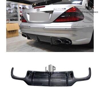 R230 High Quality Carbon Fiber Rear Lip Diffuser Car Styling For Mercedes-Benz SL Class SL500 SL600 Car Body Kit 2007-2012