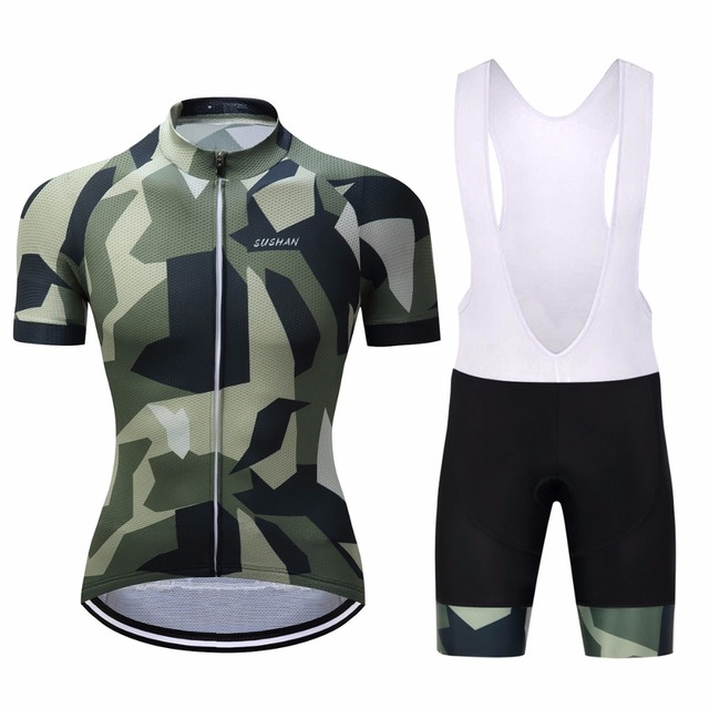 2017 Breathable Bike Cycling Jerseys Sets Lycra Quick-Dry Short Sleeve  Clothes Bicycle Ropa Ciclismo  Military style sportswear 70ee68f57