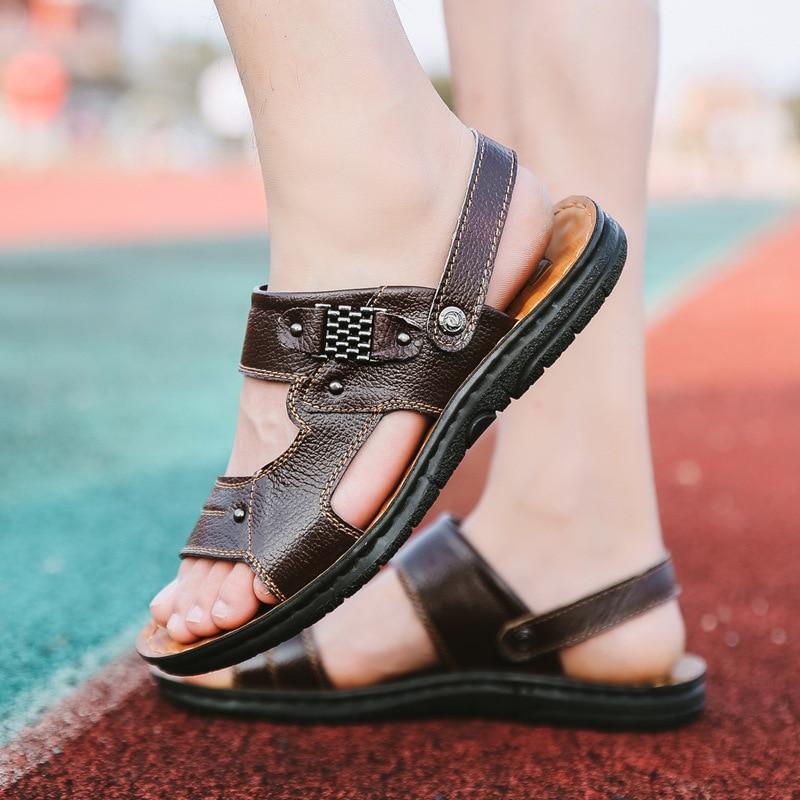 Vara 2018 pantofi pentru bărbați din piele pentru bărbați pantofi - Pantofi bărbați - Fotografie 4