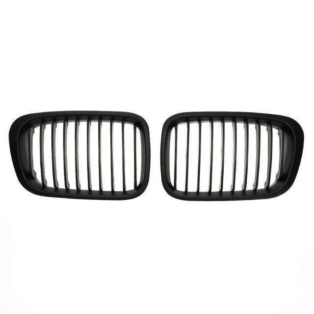 2 шт. матовая черная передная решетка для BMW E46 98-01 318i 320i