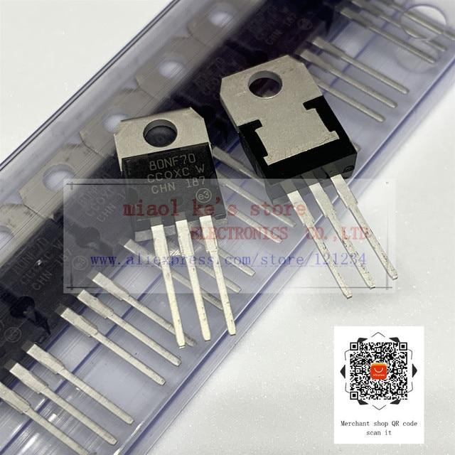 [5 sztuk-10 sztuk] 100% nowy oryginalny: STP80NF70 80NF70 80N70 - MOSFET n-kanałowy 68V 98A(Tc) 190W(Tc) TO-220AB