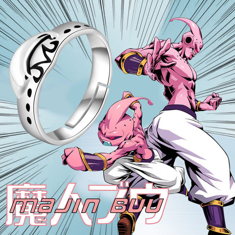 Anime Dragon Ball Majin Buu Ring 925 Sterling Silver Super Saiy Usa Size 7/ 8 /9 Christmas Gift
