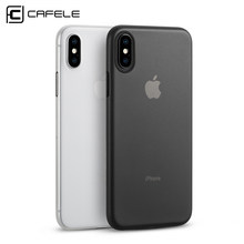 Cafele étui pour téléphone mat pour Apple iPhone X étui PP matériau anti-empreintes digitales Ultra-mince 0.4mm coque en PP couverture pour iPhone X(China)