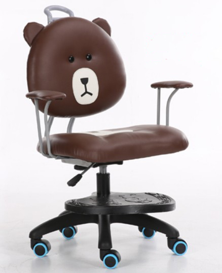 Office Chair Swivel Computer Chair Middle Back Armchair Children Kids Study Bear Chair PU Leather SGS BIFMA tested Gas lift C52A