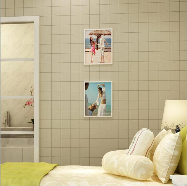 Moderne Faux Fliesen Textur Design Tapeten Rolle/3D Quadratischen Raster  Wirkung Schlafzimmer U0026 Shop U0026