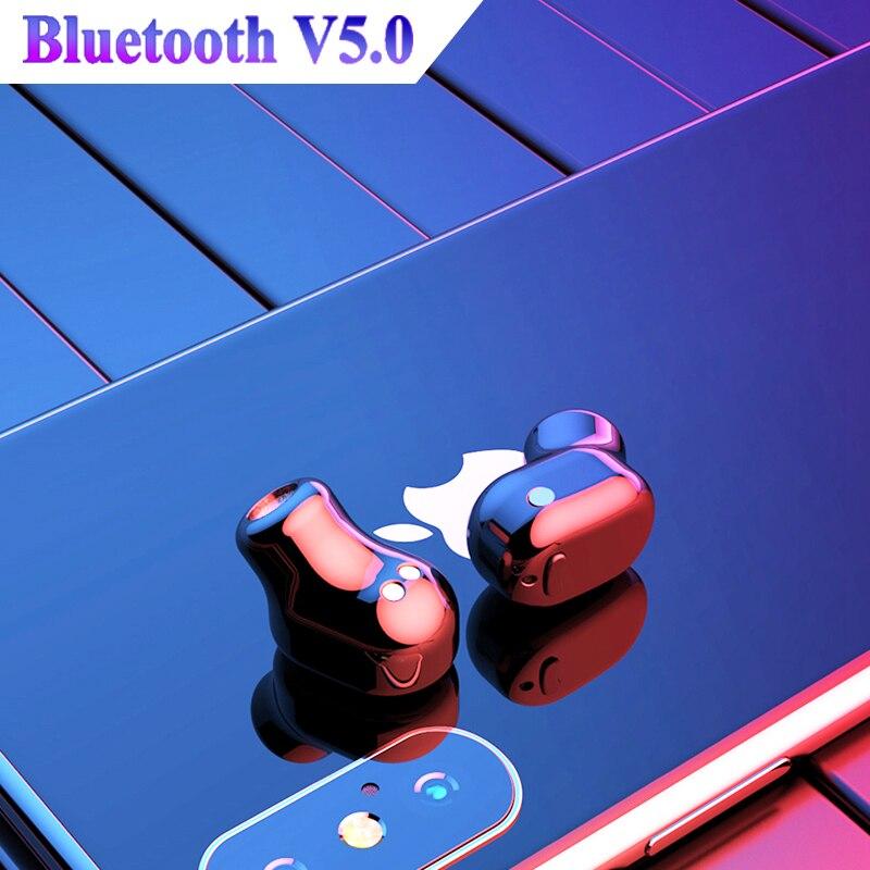 Mini Bluetooth Earphone True Wireless Earbuds Stereo in ear Bluetooth 5 0 Waterproof Sport Wireless ear