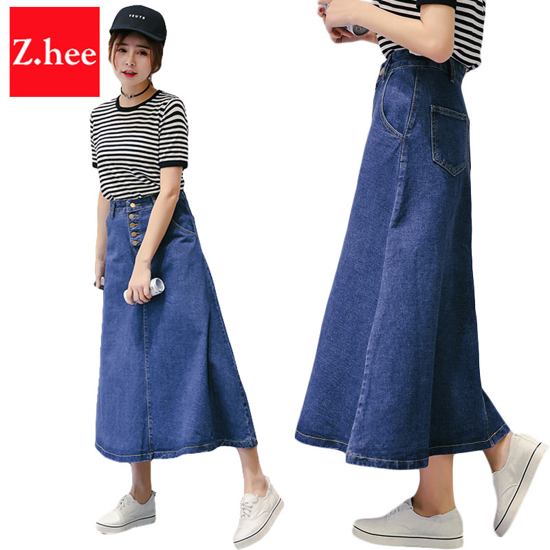 Long denim skirts online shopping-the world largest long denim ...
