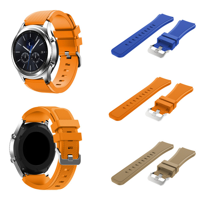 Onthelevel for Samsung gear S3 classic sports silicone belt 22MM waterproof and sweat-proof strap 1